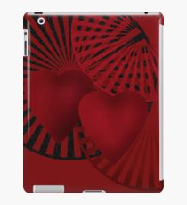 Beautiful modern hearts geometrical ornamental red pattern texture iPad Case/Skin