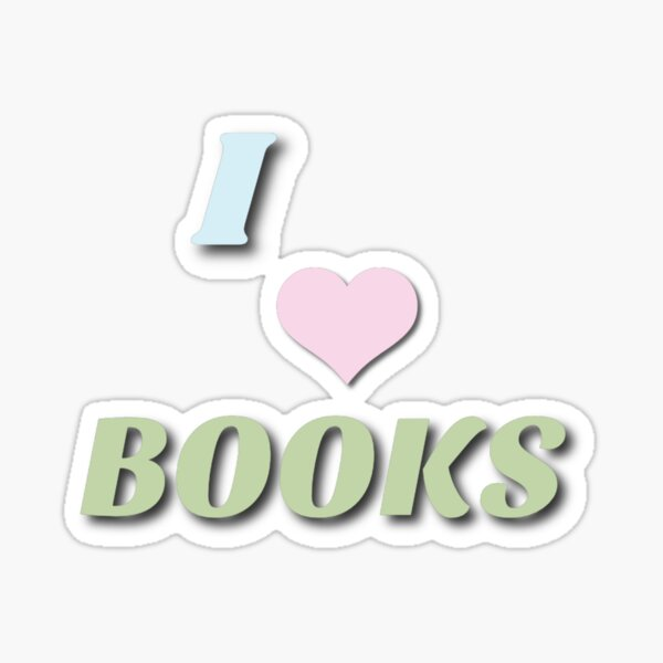 I love books!  Sticker