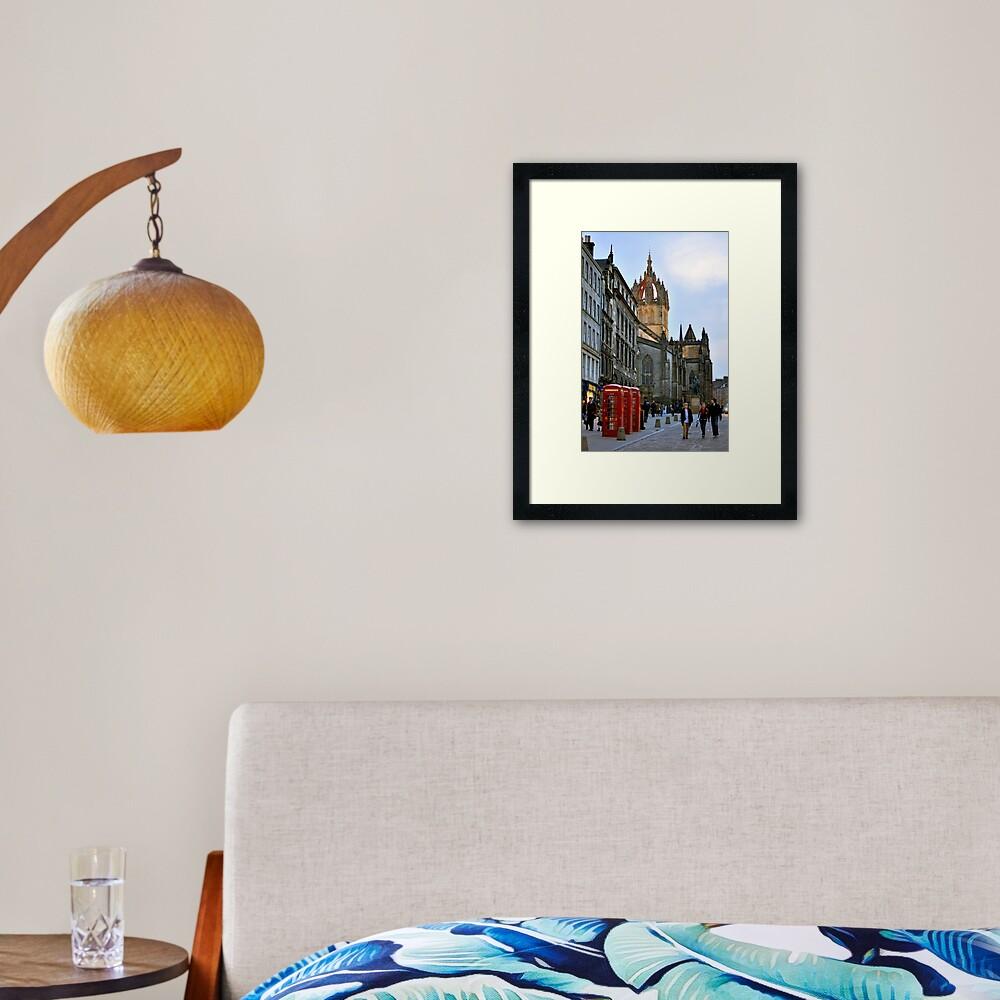 Evening Stroll on the Royal Mile Framed Art Print