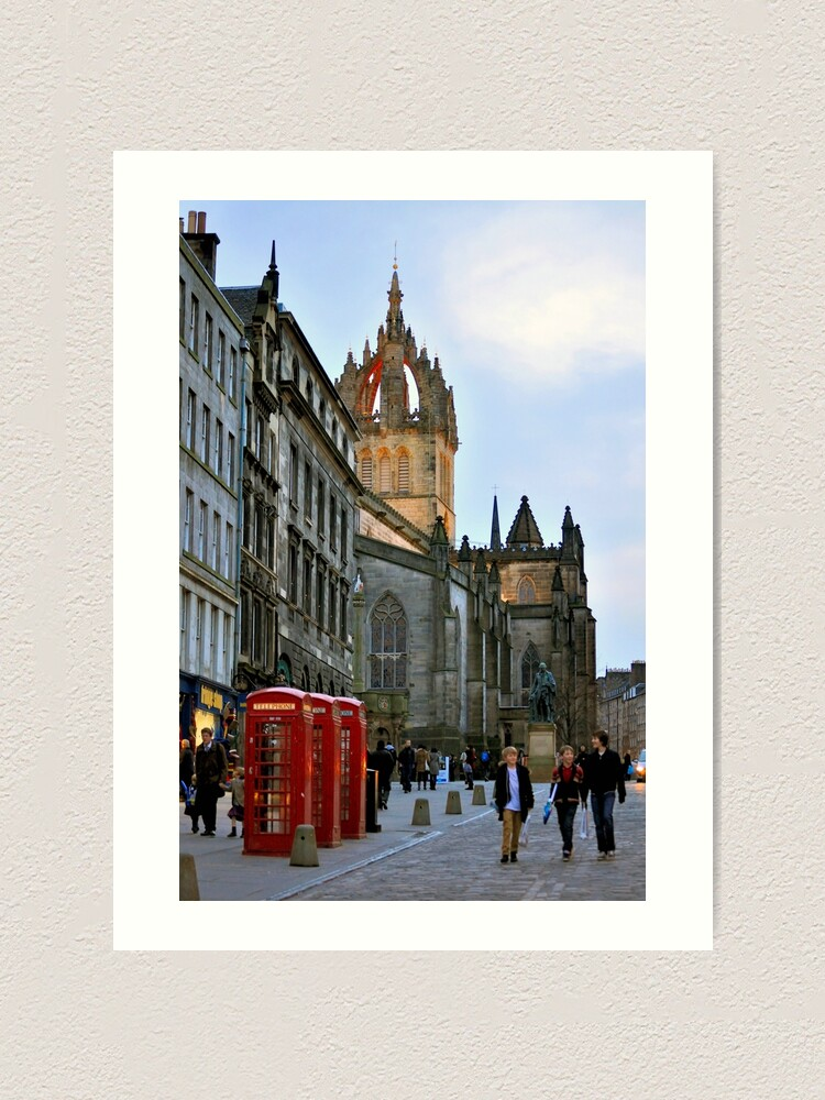 Alternate view of Evening Stroll on the Royal Mile Art Print