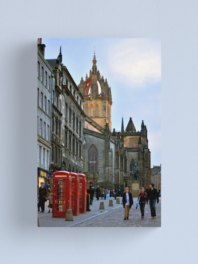 Alternate view of Evening Stroll on the Royal Mile Canvas Print
