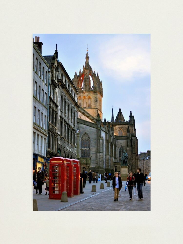 Alternate view of Evening Stroll on the Royal Mile Photographic Print