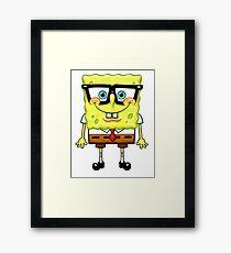 Spongebob Nerd Framed Print