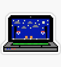 Basketball Laptop - Pixels Sticker