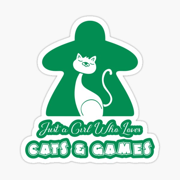 Just A Girl Who Loves Cats And Games Green Sticker