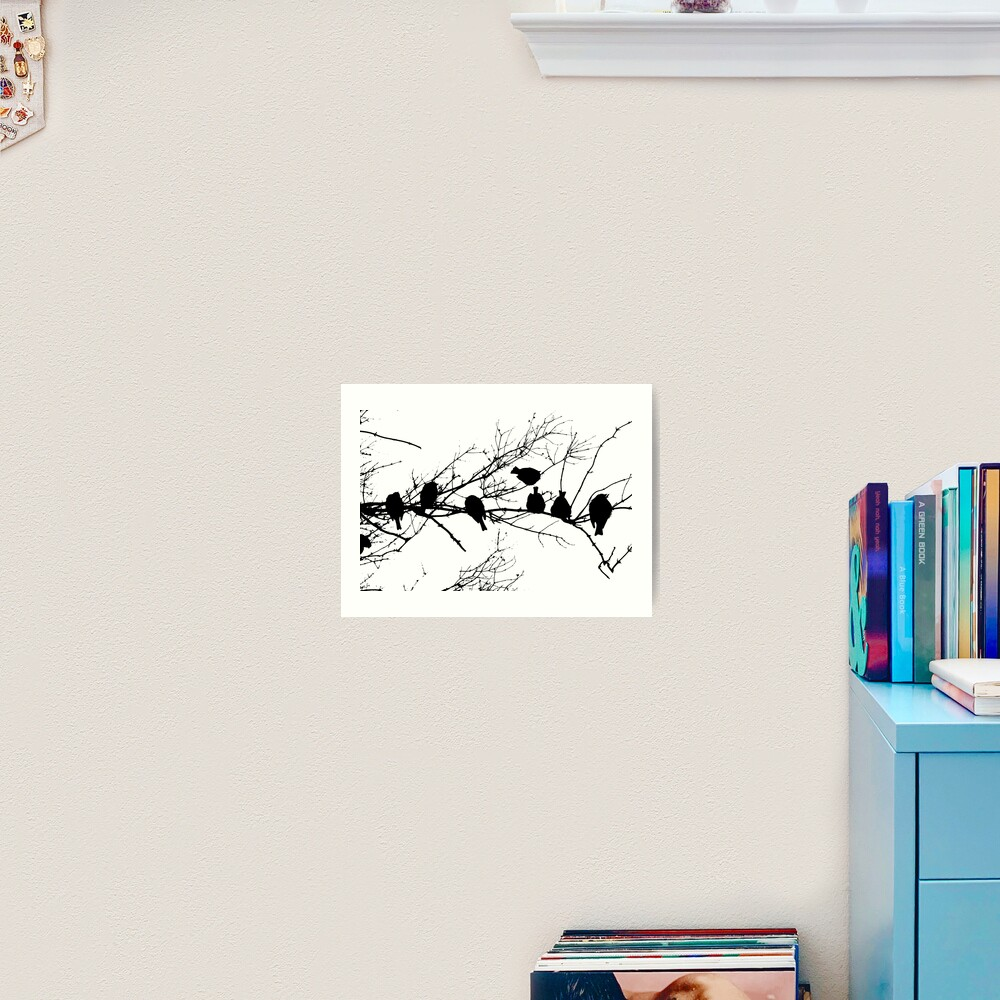 Sparrow Line Up Art Print