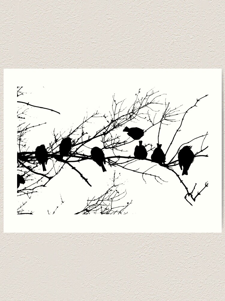 Alternate view of Sparrow Line Up Art Print