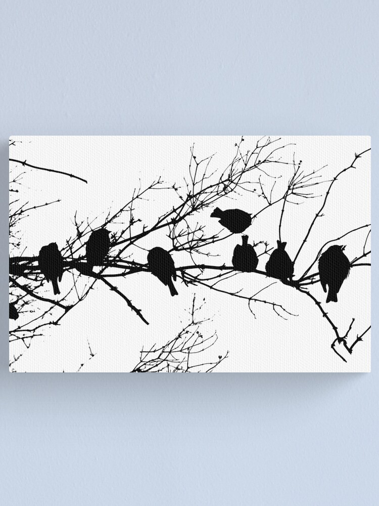 Alternate view of Sparrow Line Up Canvas Print