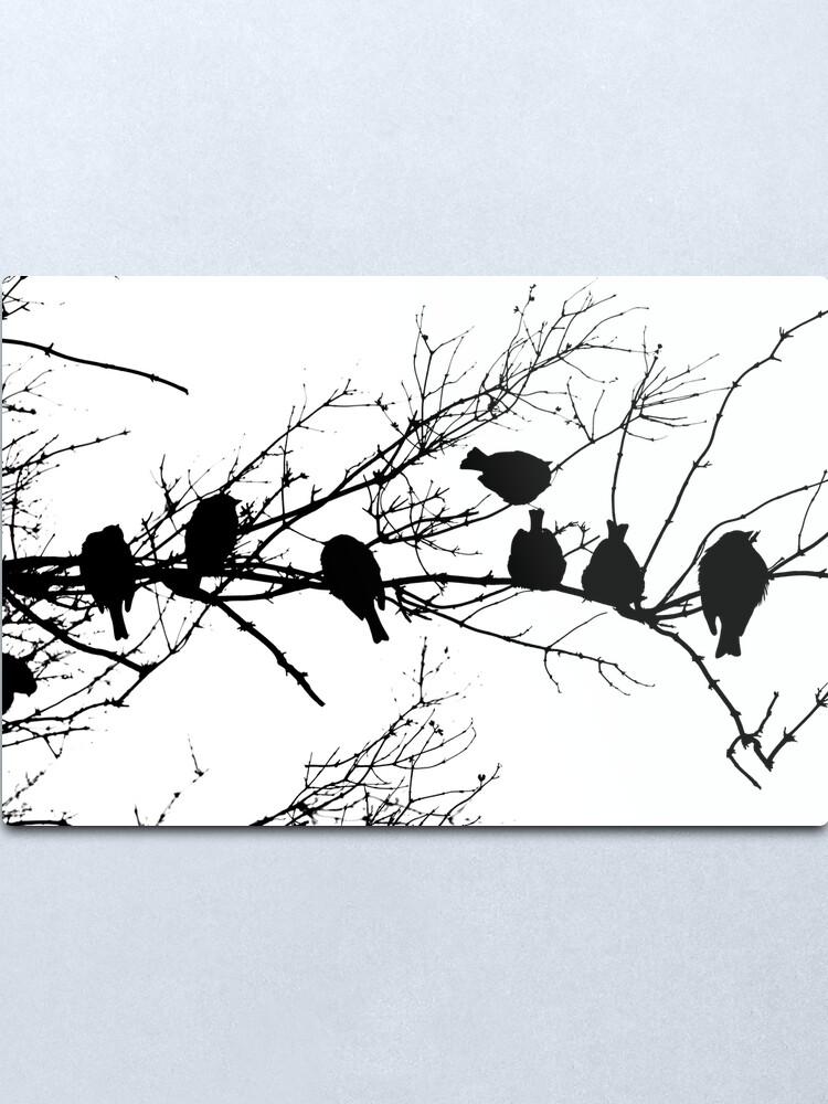 Alternate view of Sparrow Line Up Metal Print