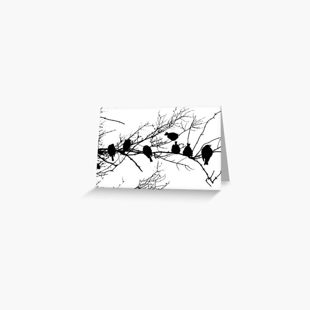 Sparrow Line Up Greeting Card