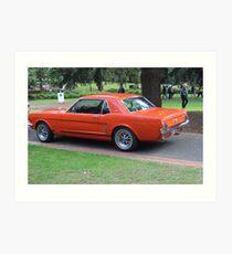 Orange Vintage Car. Art Print