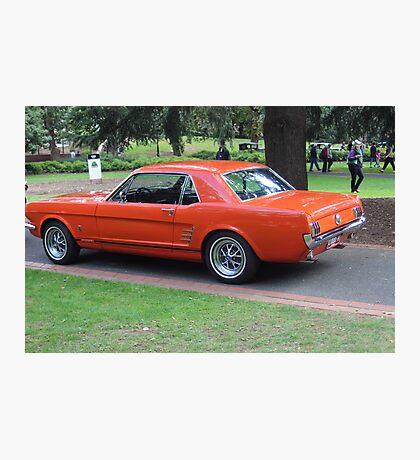 Orange Vintage Car. Photographic Print