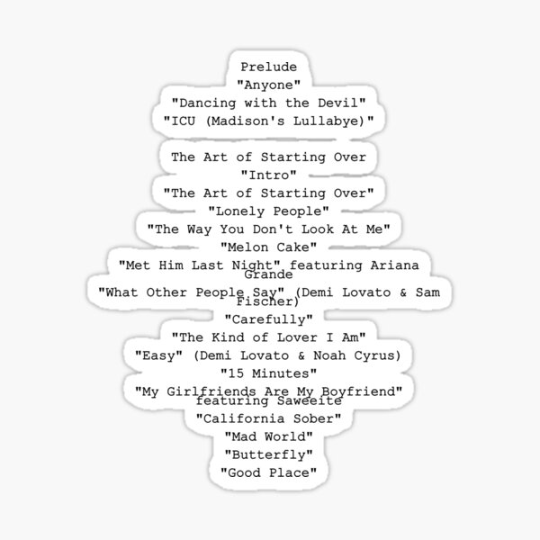 Dancing With The Devil - Demi Lovato - Song List Sticker