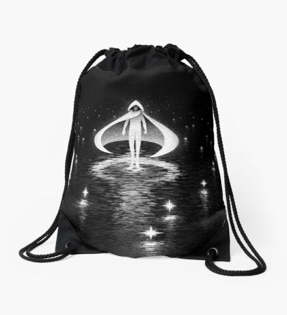 Moon and Stars Drawstring Bag