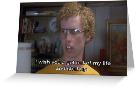 Napoleon Dynamite Quotes To Live By Greeting Cards By Fun Ghoul