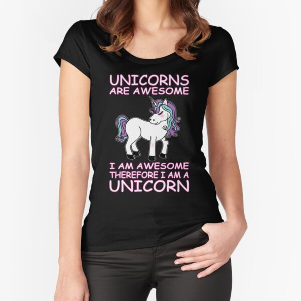 UNICORN Fitted Scoop T-Shirt