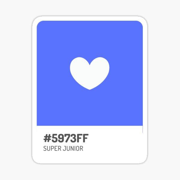 Super Junior Official Color Pantone Sticker