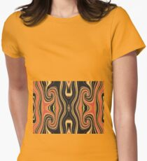 Tribal Orange Womens Fitted T-Shirt