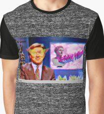 Camiseta gráfica Ancla de noticias de Vaporwave