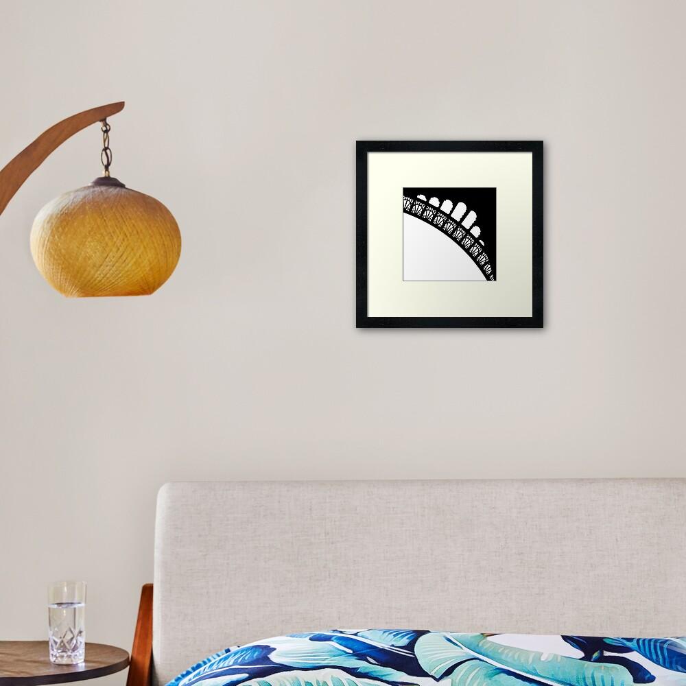 Corner Curves Framed Art Print