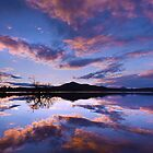 Last Light at Lake Wyaralong by Stephen Waller
