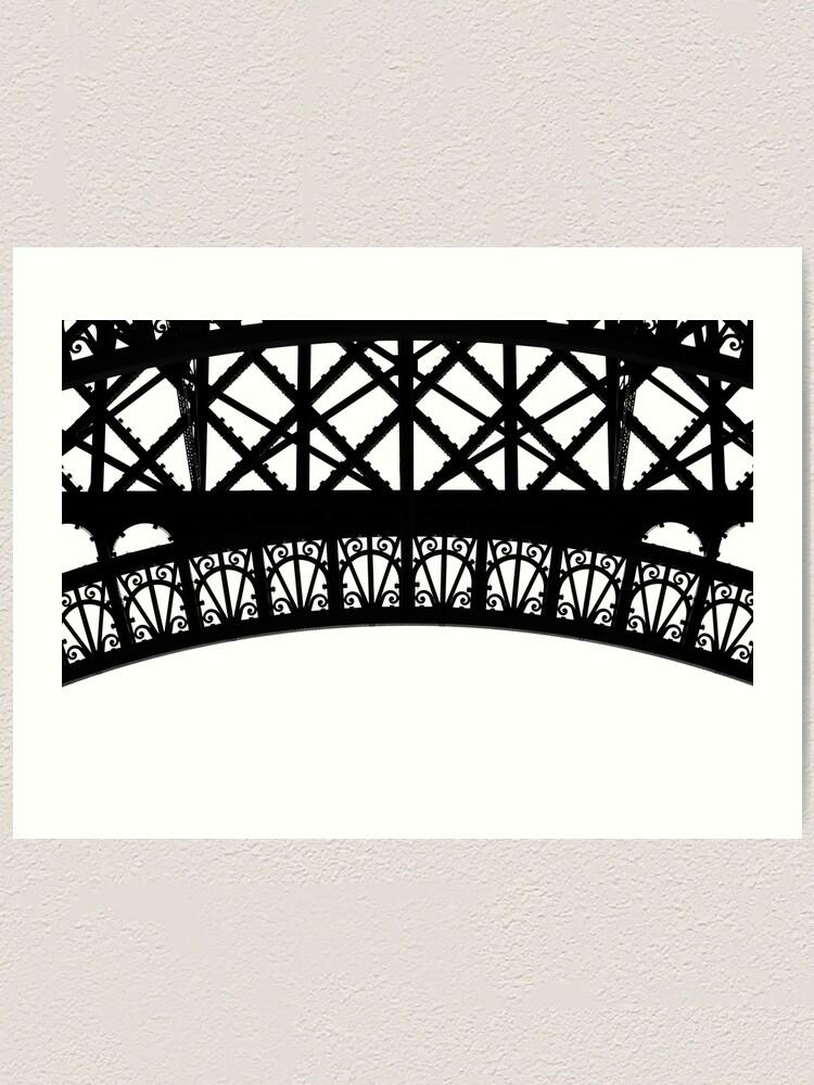 Alternate view of Iron Work, Eiffel Tower Art Print