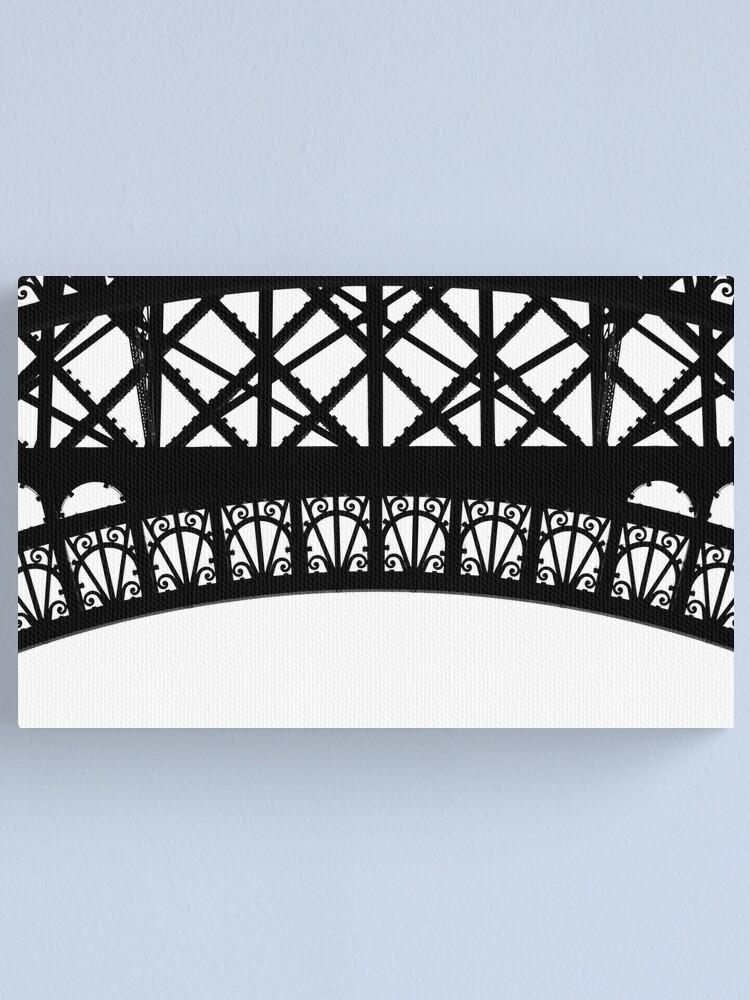 Alternate view of Iron Work, Eiffel Tower Canvas Print