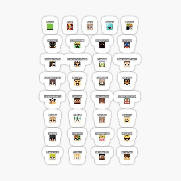 dream smp set (philza, puffy, connor update) Sticker