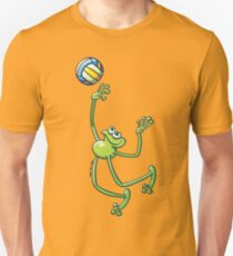 Volleyball Frog Slim Fit T-Shirt