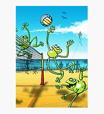 Volleyball Frog Photographic Print