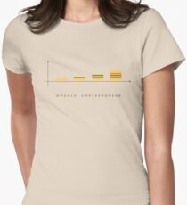 double cheeseburger bar chart Womens Fitted T-Shirt