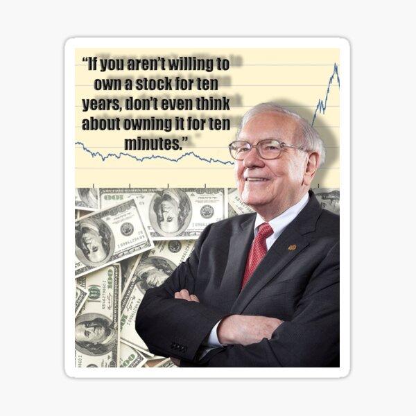Warren Buffett - Owning Stocks - Phil Your Mind  Sticker