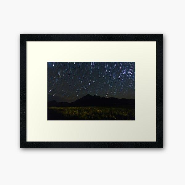 Mt Barney Star Trails Framed Art Print