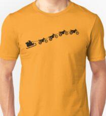 Christmas sleigh from flying dirt bikes T-Shirt