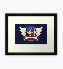 Sonic the Hedgehog Game Logo Framed Print