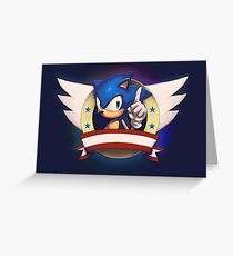 Sonic the Hedgehog Game Logo Greeting Card