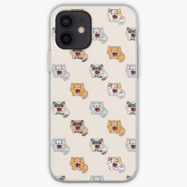 Cranky Cats Pattern iPhone Soft Case