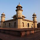 Agra, The Itmad-ud-Daulah Mausoleum at sunset by John Dalkin
