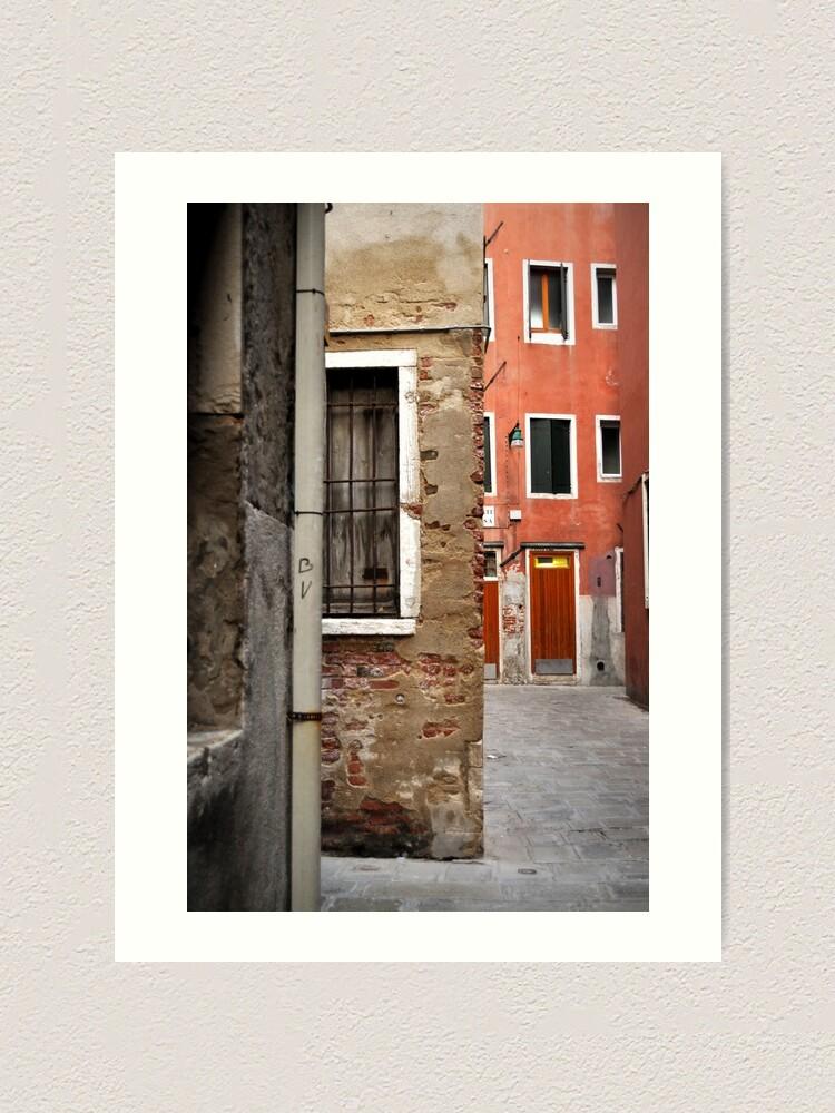 Alternate view of A Small Corner of Venice Art Print