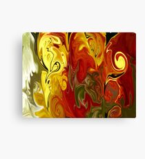 Abstract: Orange, Red, Yellow, Green Canvas Print