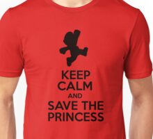 KEEP CALM AND SAVE THE PRINCESS Unisex T-Shirt