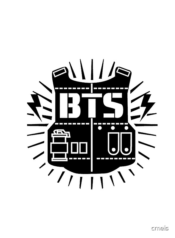 Quot Bts Logo Quot Posters By Crneis Redbubble