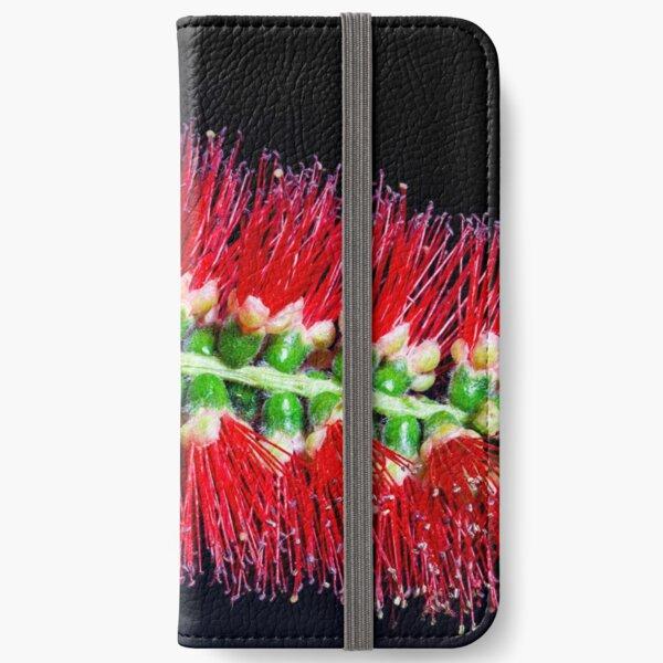 Bottlebrush flower Macro photography iPhone Wallet
