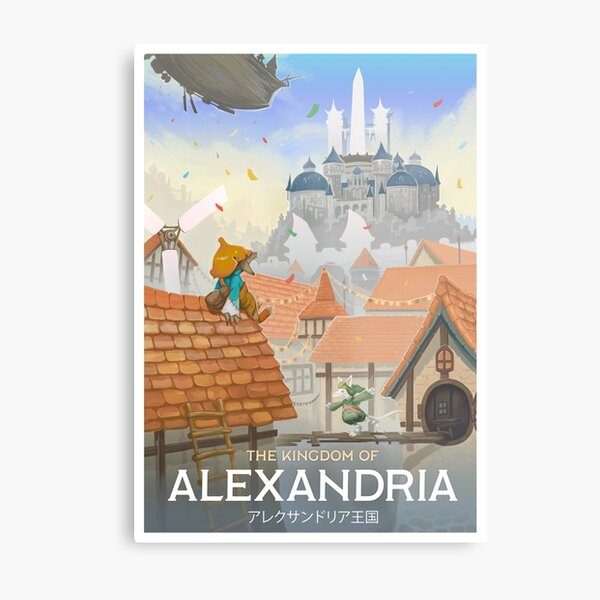 Final Fantasy IX - Alexandrie Impression métallique