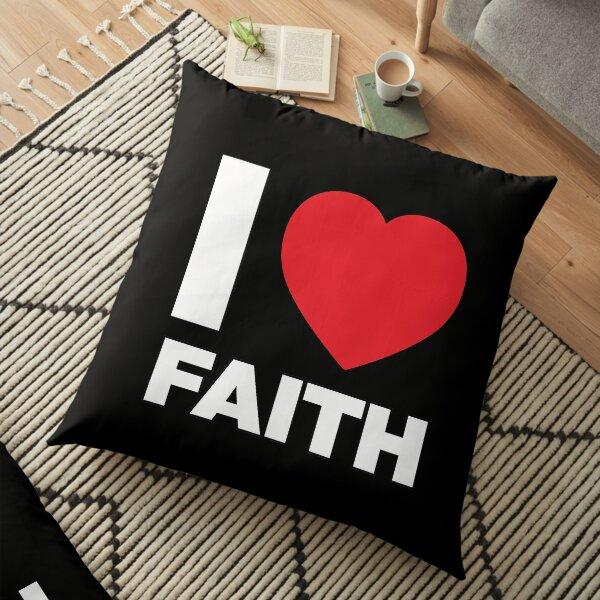 I Love her, Women Girl Daughter Name Faith Floor Pillow