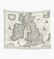 1631 Map of the British Isles by Joan Blaeu Wall Tapestry