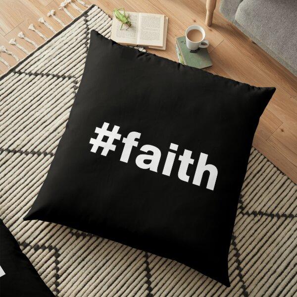 Hashtag Women Girl Daughter Name Faith Floor Pillow