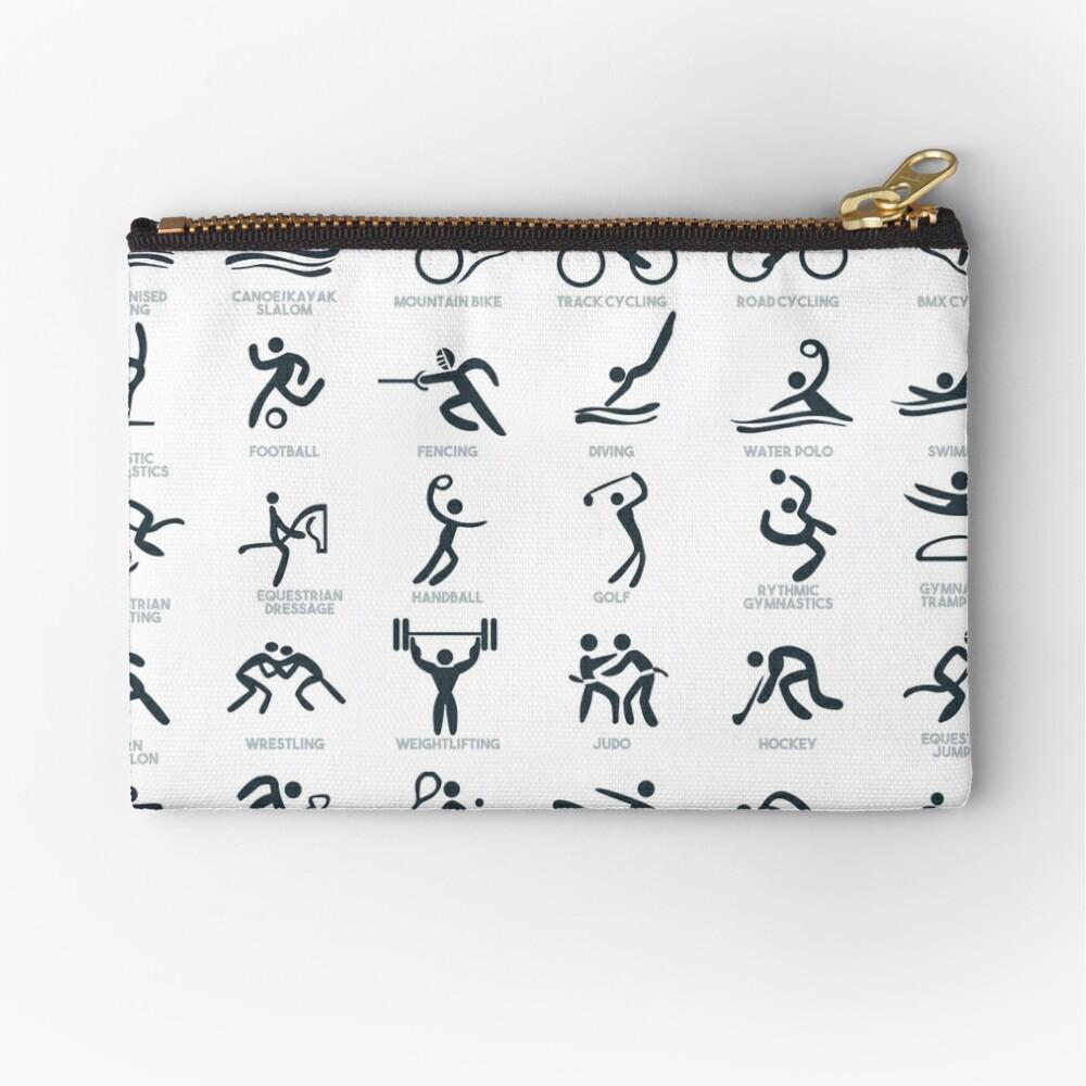 Olympia-Symbol Piktogramme Täschchen
