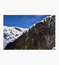 New Zealand Snow Covered Mountains Photographic Print