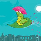 Night Flight of the Inchworm by GinCherry